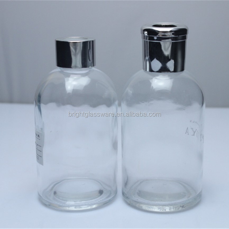 China Factory Empty Reed Diffuser Perfume Glass Bottle With Screw Cap