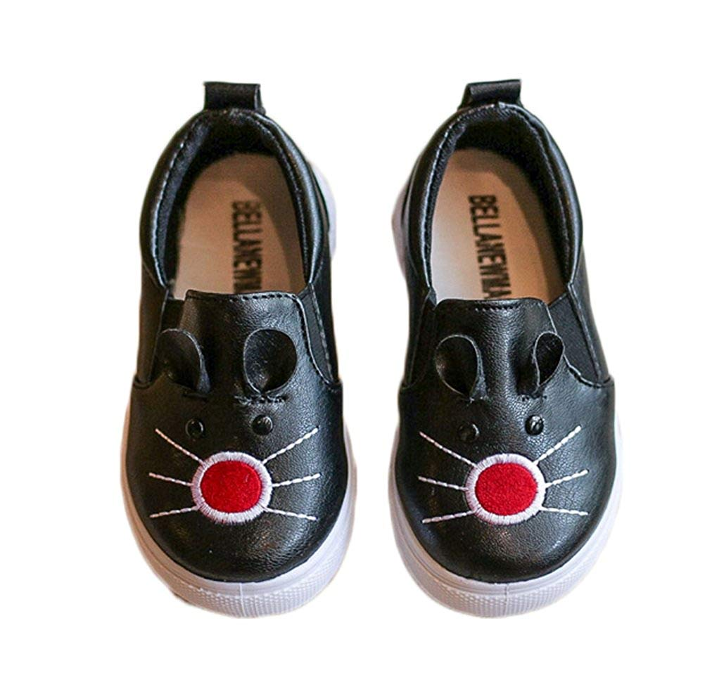 Bakerdani 2017 Style Fashion Autumn Childrens Casual Shoes Soft Soles Anti-slip with Cats Stickers for Boys Girls Kids