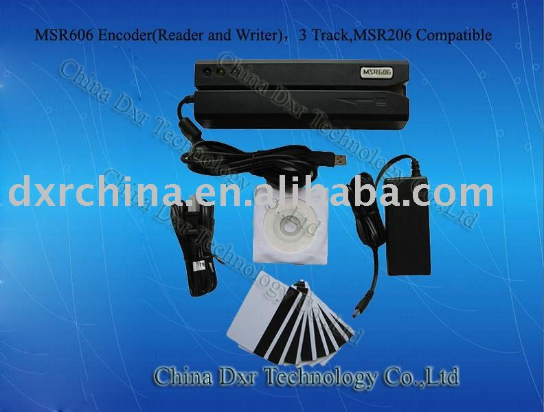 3 Tracks Card Encoder MSR206 magnetic stripe card reader writer