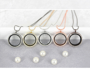 30mm Round Crystal Blank floating locket Pendant for DIY Jewelry making