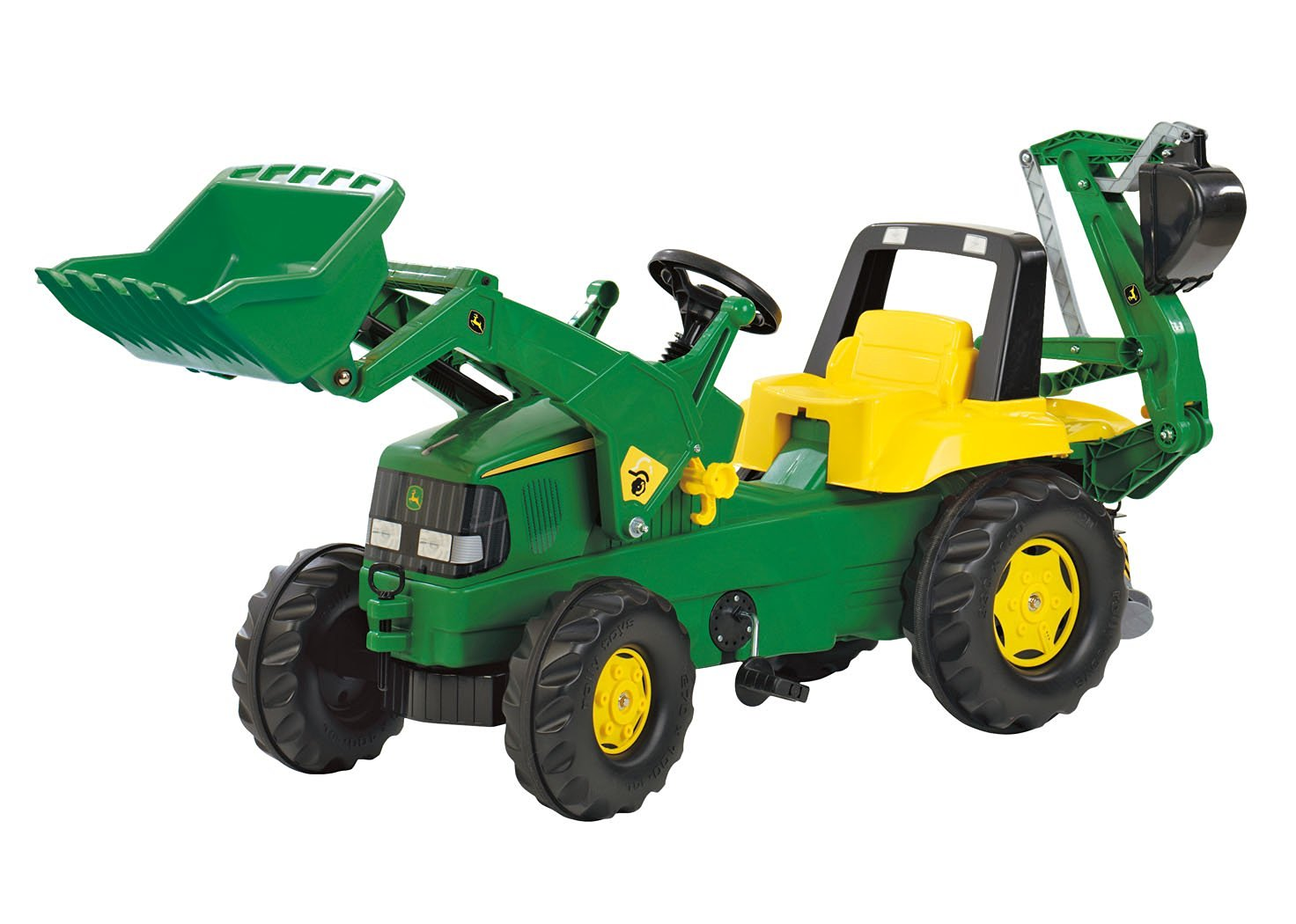 Get Quotations · Rolly John Deere Backhoe Loader Ride On