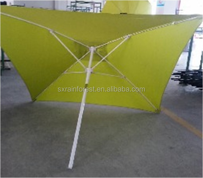 2x2m cheap square umbrella aluminum pole fiberglass ribs