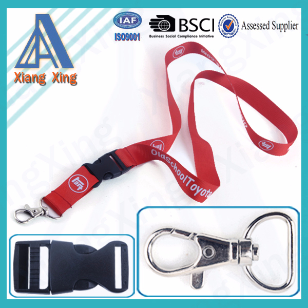 2016 China Factory News Products hot sell Cheap Custom Lanyard No Minimum Order With Any Hook
