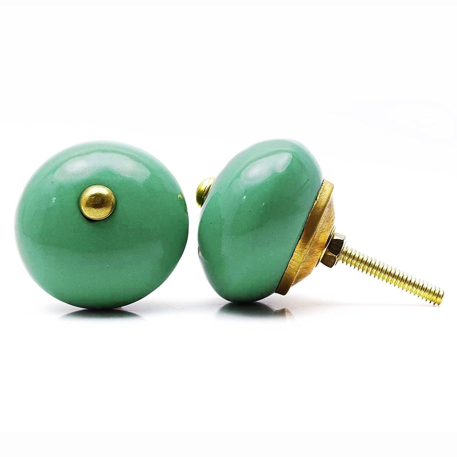 Kitchen Cabinet Knobs Green Kids Dresser Knobs Ceramic Drawer Pull Drawer 1 Pair /ITEM#HGO-IW 73ET210763