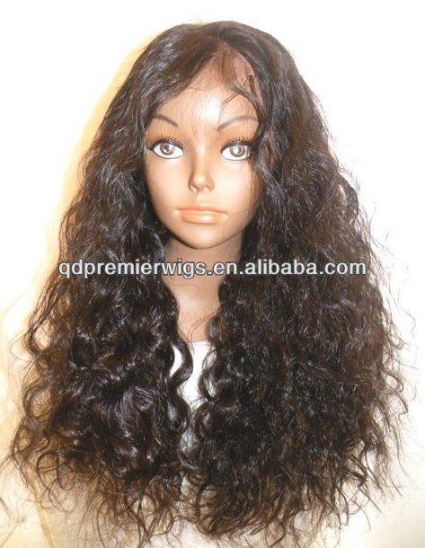 factory price silky wave stock Front Lace Wig / glueless Full lace wig Indian hair factory pric Natural hairline for black women