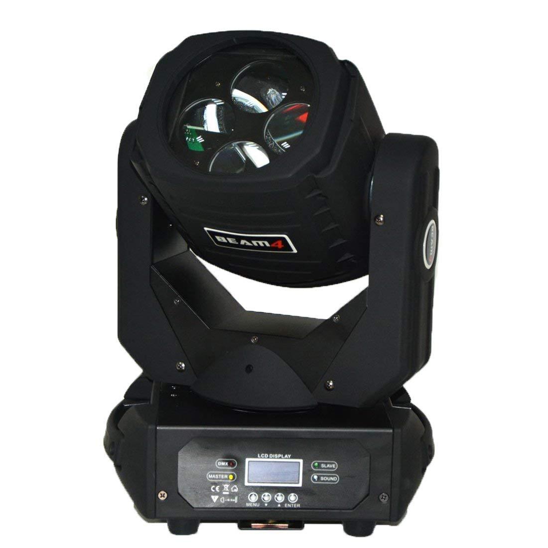 MOKA SFX 2pcs 4x25W LED 140W Super Beam Moving Head Lights Spot Zoom DMX 9/15CH for Disco Stage Wedding Party Decorations