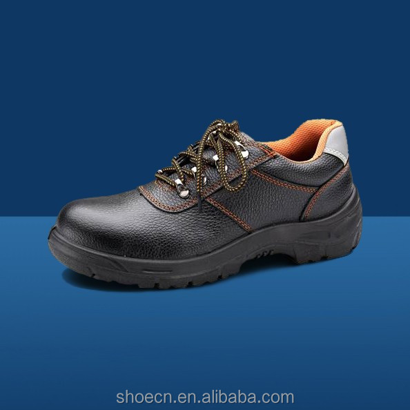 Anti-smashing esd safety shoes mens working shoes to safe cow leather upper hot construction For building worker