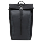 Black Durable Roll Top Daypack Waterproof backpack very Flexible with Laptop Pocket for men