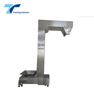 TOPY-BE1 Vertical Flexible Z Type Bucket Elevator Chain Conveyor + Belt Price for Granule Food