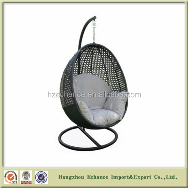 Swing Egg Stoel.Cheap Pe Rattan Hanging Cocoon Egg Chair With Stand And Cushion