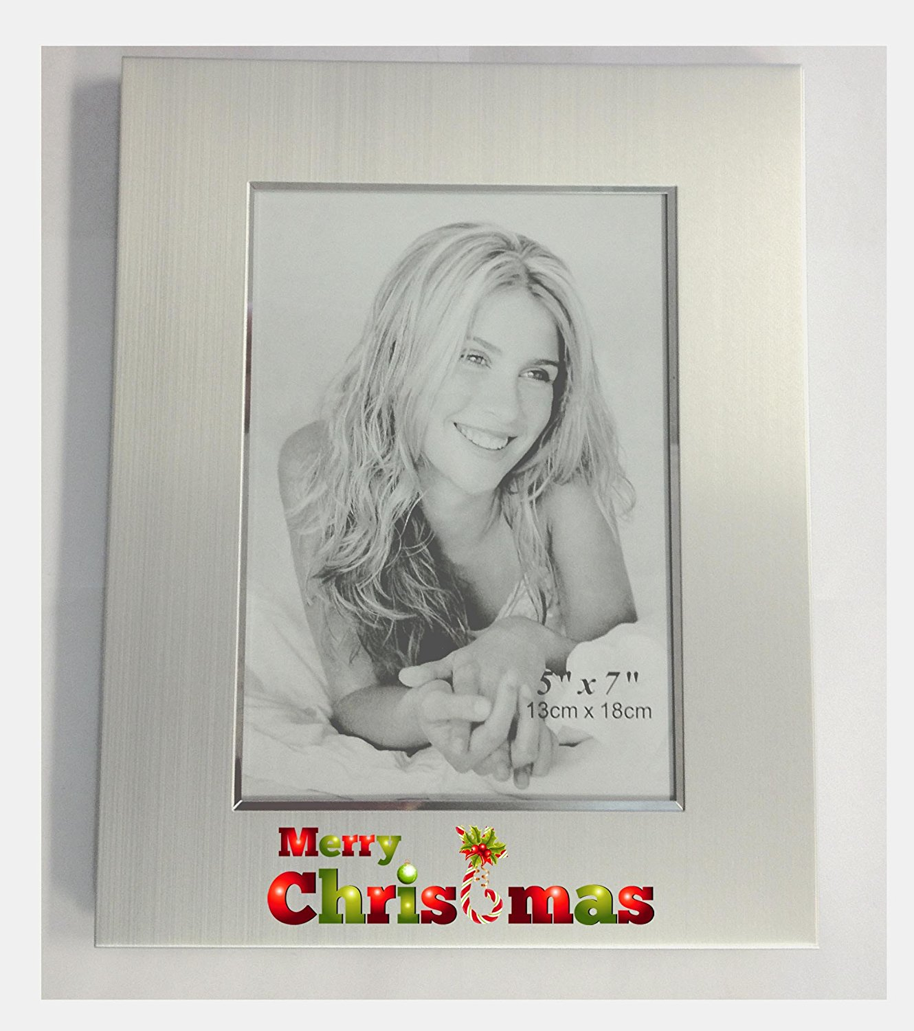 get quotations upper gifts silver metal 5x7 christmas picture frame