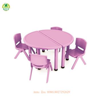 Tavoli E Sedie In Plastica Per Bambini.Non Tossico Meta Di Plastica Rotondo Mobili Per Bambini Bambini