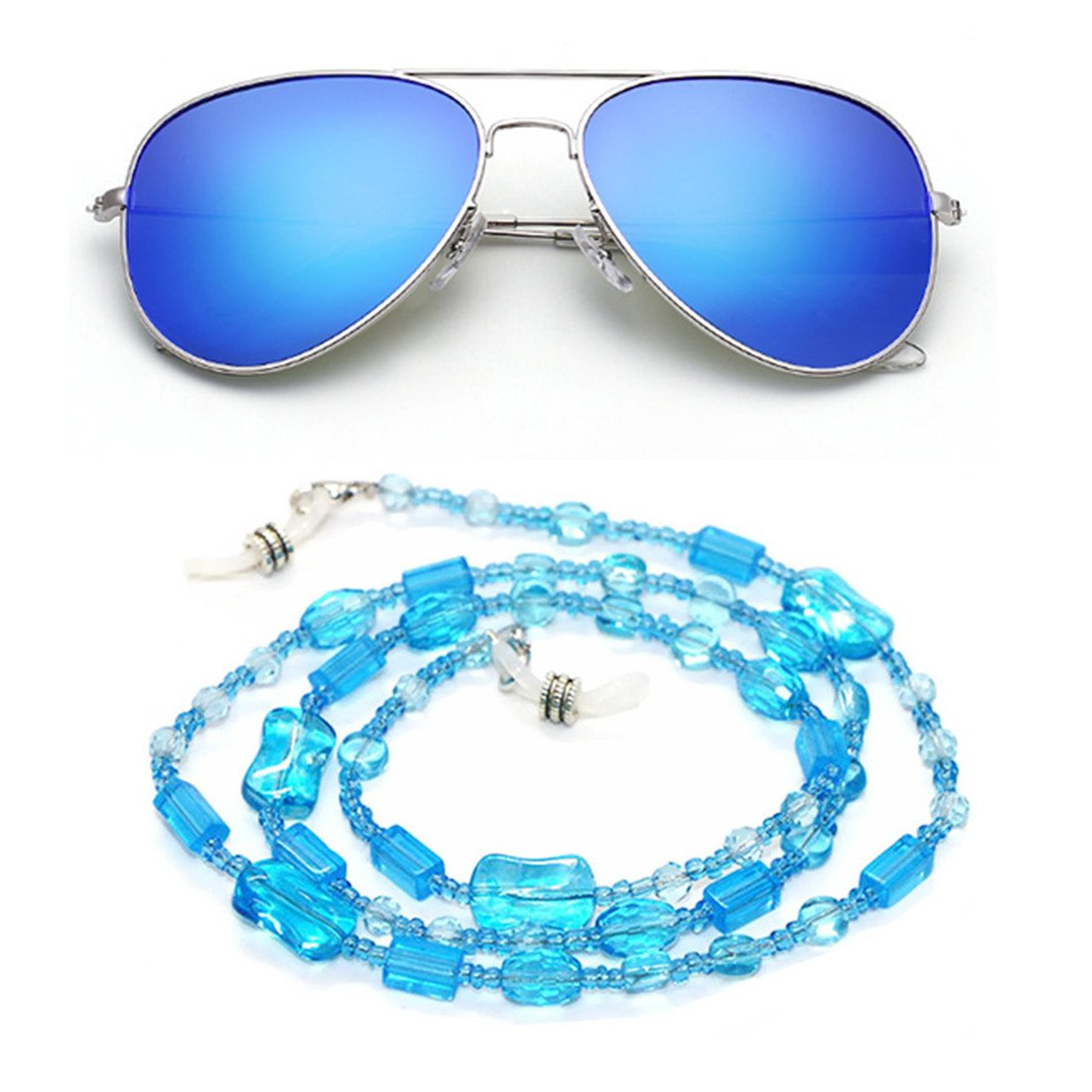 fad9a35f2e5 Get Quotations · Kalevel Eyeglass Chain Holder Glasses Strap Eyeglass  Chains and Cords for Women