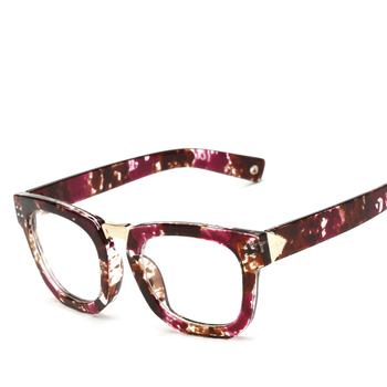 5082c07b69 Superhot gafas mujer óptico marco cuadrado Retro Vintage marcos de anteojos  con lente claro Rosa gafas