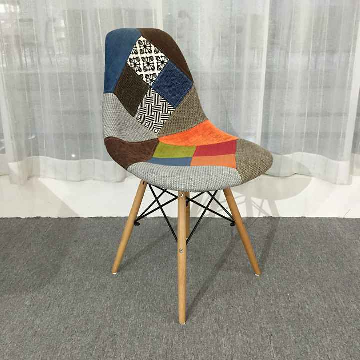 Wholesale Modern Patchwork Fabric Cover Wooden Legs Restaurant Dinning Chairs Dining Room Chairs For Sale Buy Dining Room Chair For Sale Restaurant