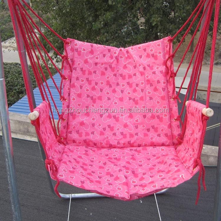 Paracaídas de columpio de jardín silla hamaca con tubería de acero ...