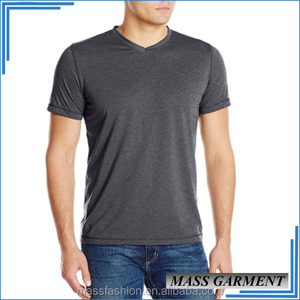 100% Polyester Collar Sport Blank Wholesale Rock Band V Neck T-shirts