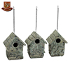 Resin fairy garden stone birdhouse kits
