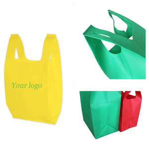 Best Price PP Non-Woven Reusable Tote Grocery Supermarket Bag,T-Shirt Eco Vest Bag