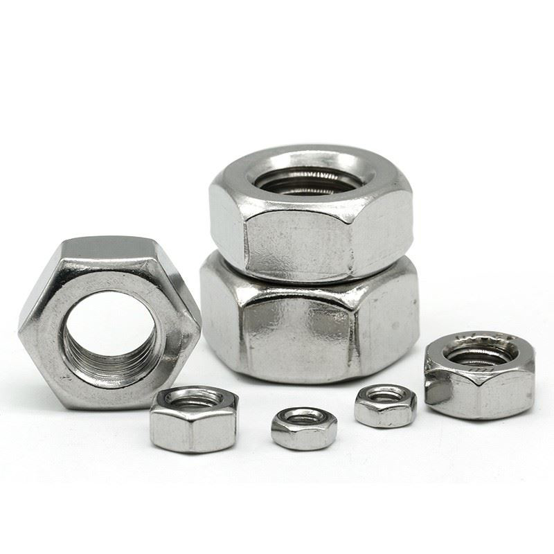 Fast delivery DIN934 hex nut Stainless <strong>steel</strong> SS304 M2.5-0.45