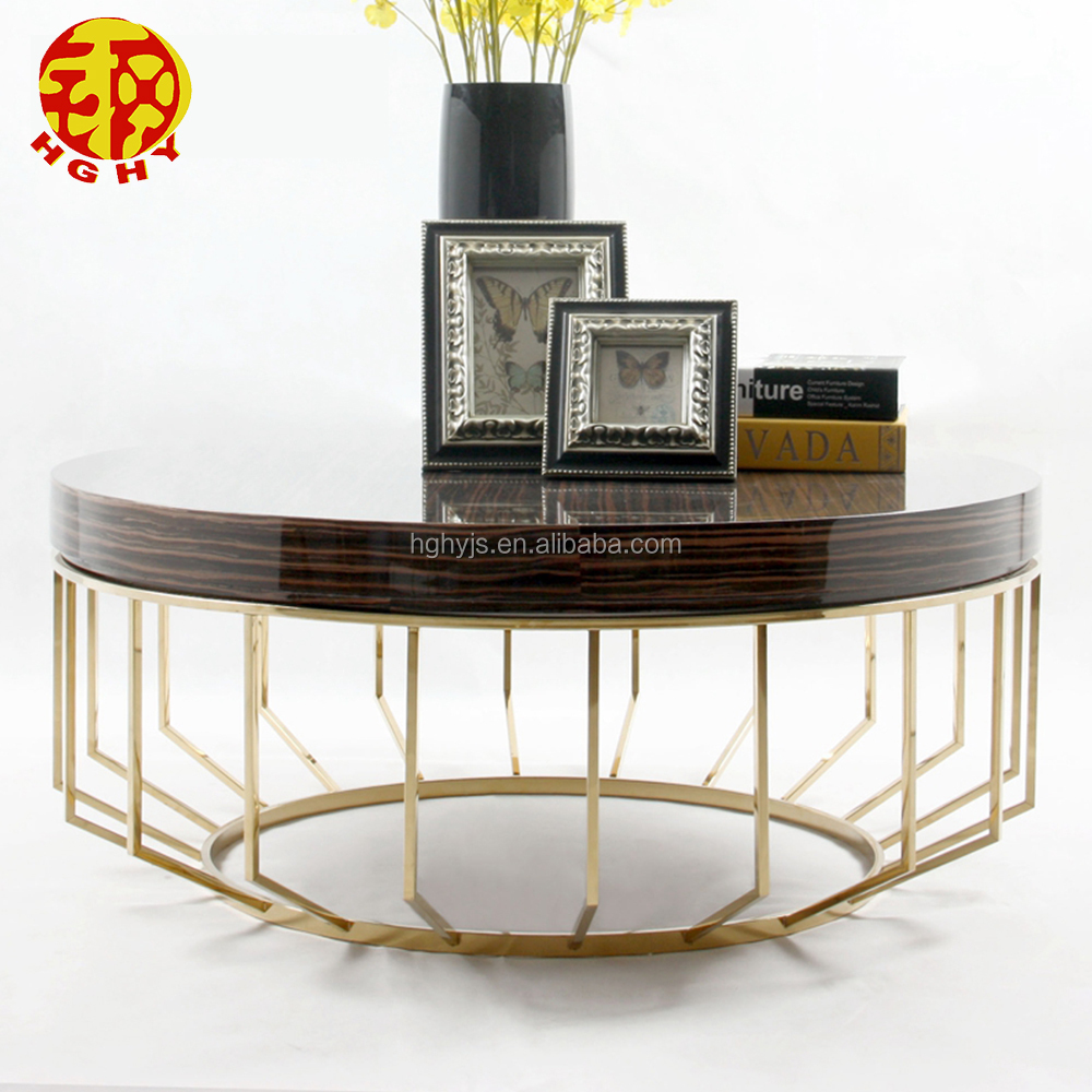 stainless steel mirror side tea coffee table with stainless steel leg