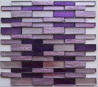 Home improvement purple crystal glass mosaic wall tiles for bathroom and kitchen bar and backsplash tile