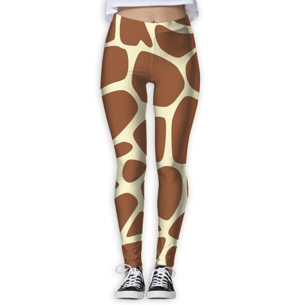 0d7c87c641 Oiybab Sofas Funny Giraffe Skin Giraffe Print Womens Full-Length Yoga Pants  Fitness Workout Leggings