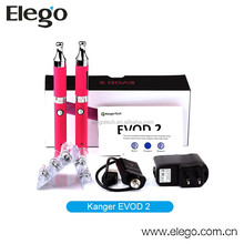 2015 Best Seller E Cig Starter Kit Kanger EVOD 2 Double Kit with Various Colors
