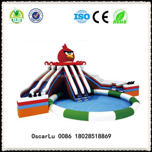 inflatable used commercial park bird water slides foam outdoor water playground equipment for sale ( QX-18081C)