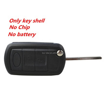 3 knoppen Flip Sleutel Shell Case Fob Voor <span class=keywords><strong>LAND</strong></span> <span class=keywords><strong>ROVER</strong></span> Range <span class=keywords><strong>Rover</strong></span> Sport <span class=keywords><strong>LR3</strong></span> Discovery