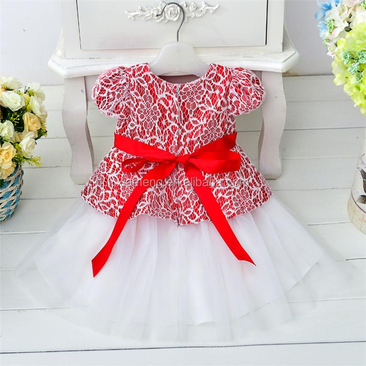 Popular rojo hermoso vestido de fiesta corto patrones para el bebé ...