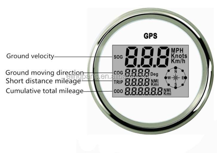 85mm Auto Marine Digital Gps Speedometer Odometer 0