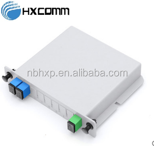 FTTH Passive LGX insertion type 1x2 Fiber Optical Splitter PLC splitter with sc upc apc connectors