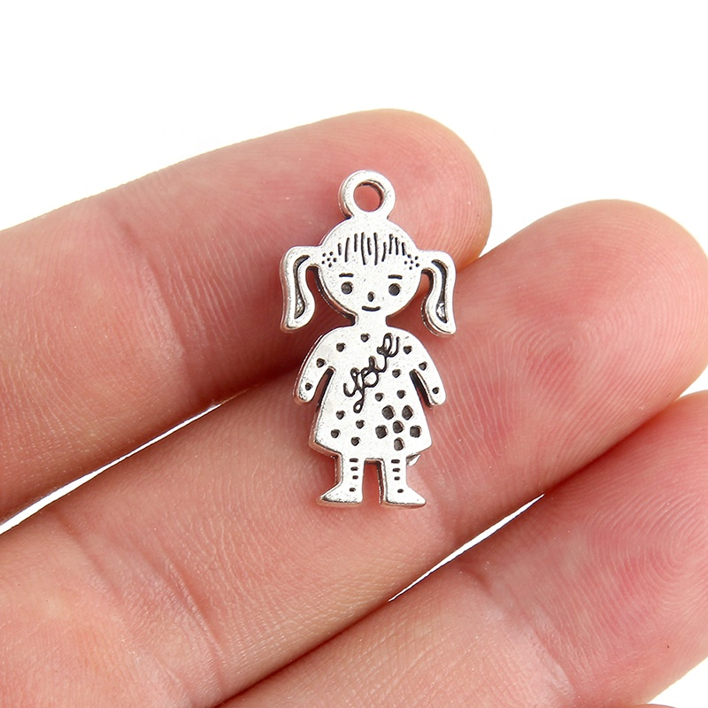 Alloy Children Couple Boys Girls Shapes Fashion Cute <strong>Charms</strong> For Making DIY Necklace Bracelet Jewelry Accessories