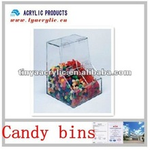 2012 hot sale clear boot shaped acrylic candy bins