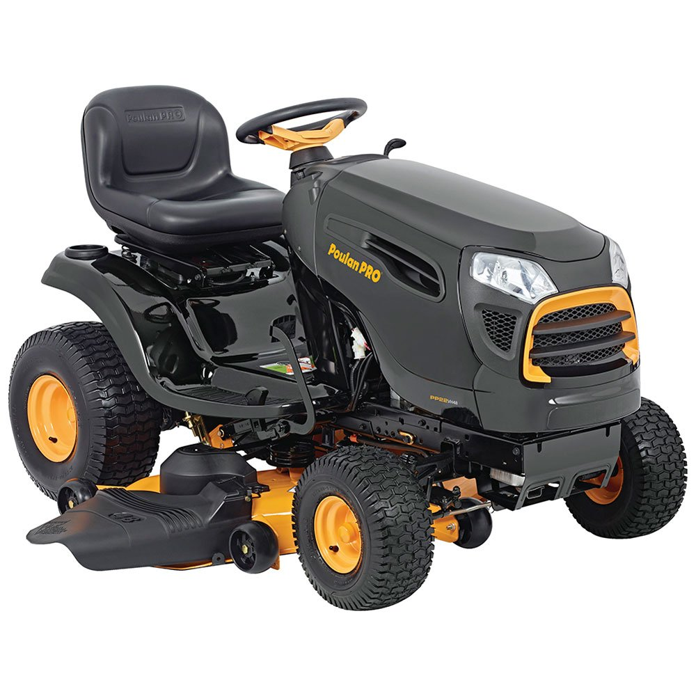 "Get Quotations · Poulan Pro 960420185 Briggs 22 hp Automatic Hydrostatic  Transmission Drive Riding Mower, 48"" 46000"