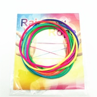 2.5mm Nylon classic Rainbow Rope fumble 1.6 meters Toy Finger Rope Colorful string Game Toy Rope