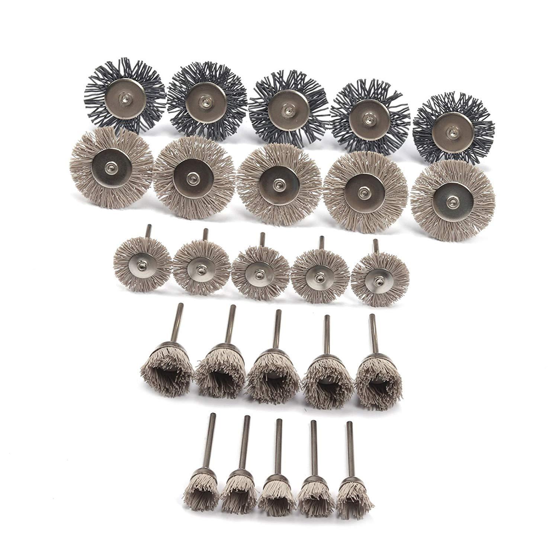 uxcell 15pcs 10mm Dia 120 Grit Flap Wheel Grinding Polishing Tool w Mandrel Shank