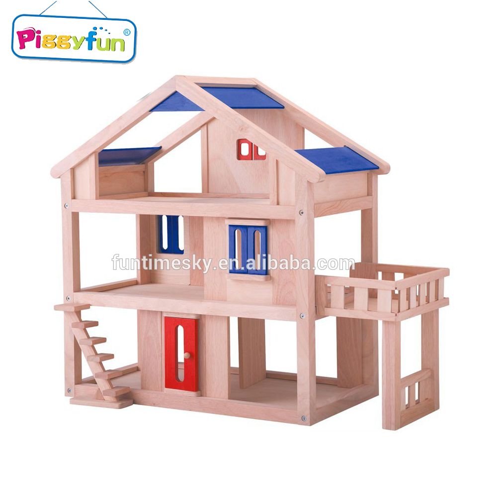 Hot Sale Kids Wooden House Toy Popular Handmade Wooden Doll House