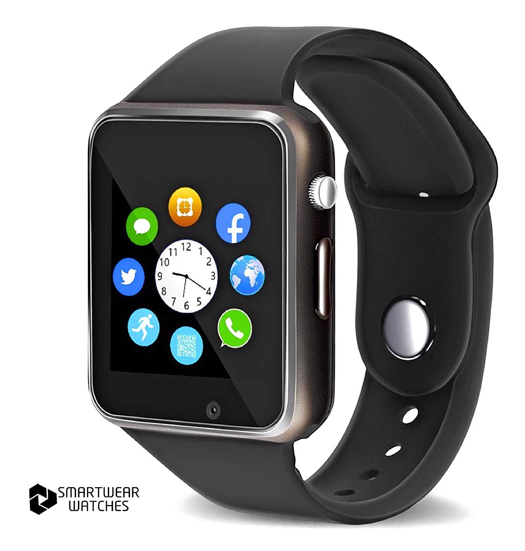 Bluetooth Smart Watch - Touch Screen Smart Wrist Watch Smartwatch Phone SIM Card Slot Camera Pedometer Sport Tracker Compatible iOS iPhone Android Samsung Phones Men Women Child