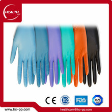 powered Disposable nitrile coated exam cheap nitrile gloves colored nitrile gloves