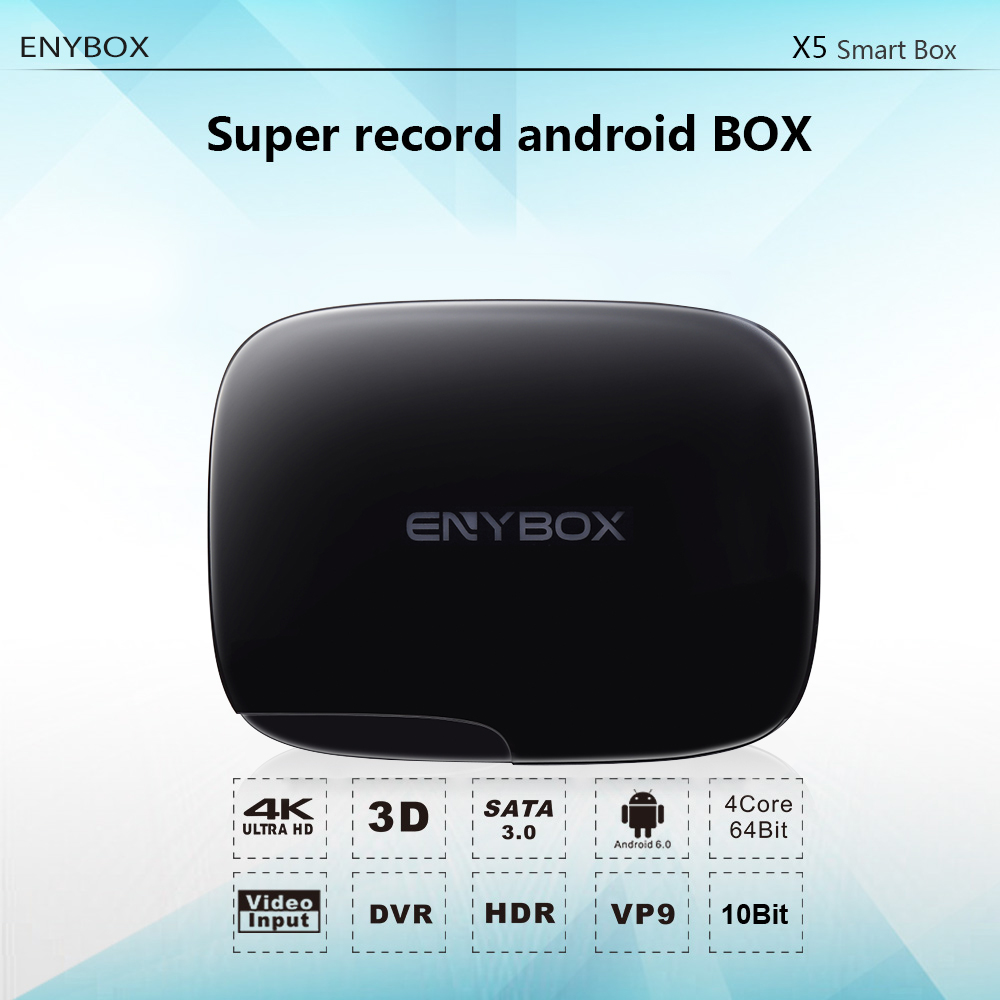 2018 new model Enybox X5 Realtek RTD1295 1gb/2gb ram 8gb/16gb rom rooted android tv box for digital signage
