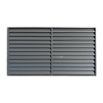 Yekalon Free Sample European Style Blinds Fixed Blade Outdoor Blinds Zinc Steel Metal Louver From China Manufacturer