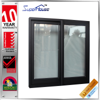 Low-U factor YKK system double glazed aluminum window price square meter