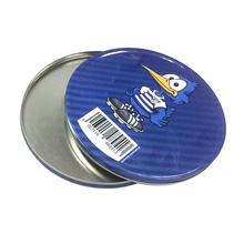 Popular style round cd dvd vcd tin box supplier in china