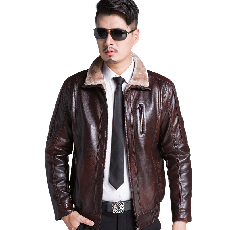 Cheap Mens Leather Jacket Fur Collar, find Mens Leather Jacket Fur ...