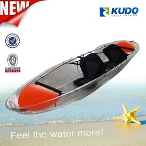 KUDO 3.39m Plastic Transparent Canoe Clear Kayak for Sale