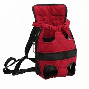 Pet Carrier Backpack Adjustable Safe Cat Dog Front Bags Lightweight Head Legs Tail Out Hands Free for Traveling Hiking Camping
