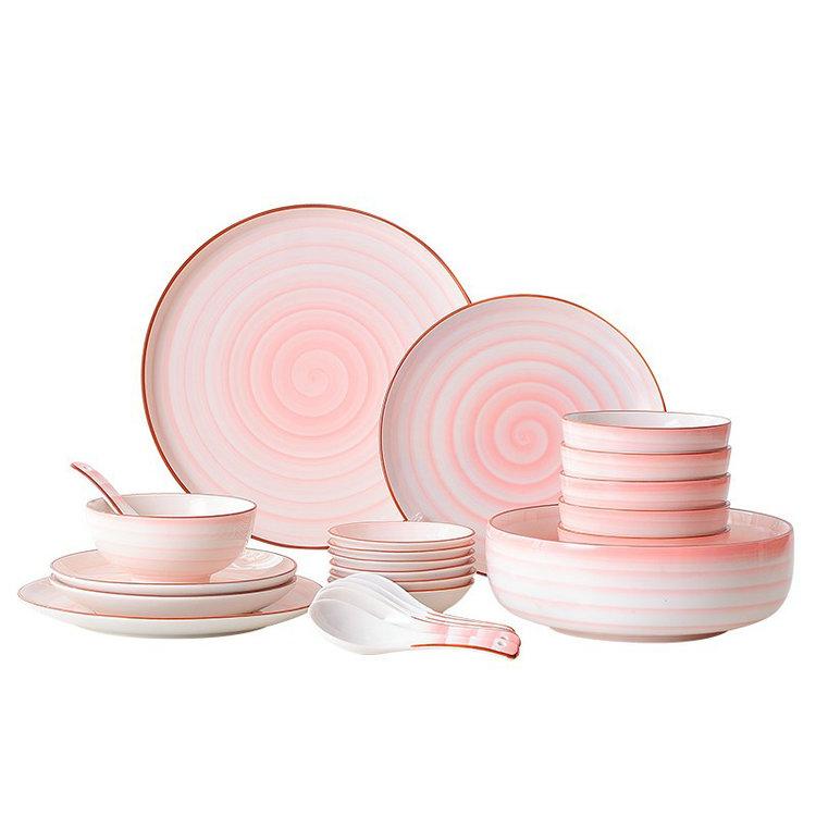 Italian Style Crockery Kitchen Wares Wholesale Pink Plates Dinnerware Sets  - Buy Dinnerware Sets,Dinnerware Sets Wholesale,Plates Sets Dinnerware ...