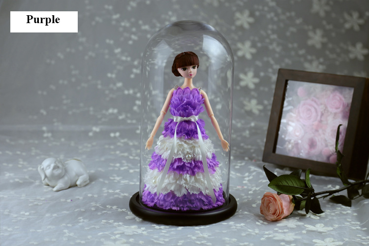 2019 Hot Sale Barbie Doll In Glass Dome With Wooden Base For Children's Day Girls Birthday Gifts